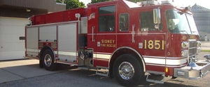 Sidney Fire Dep't Today's Fire Truck